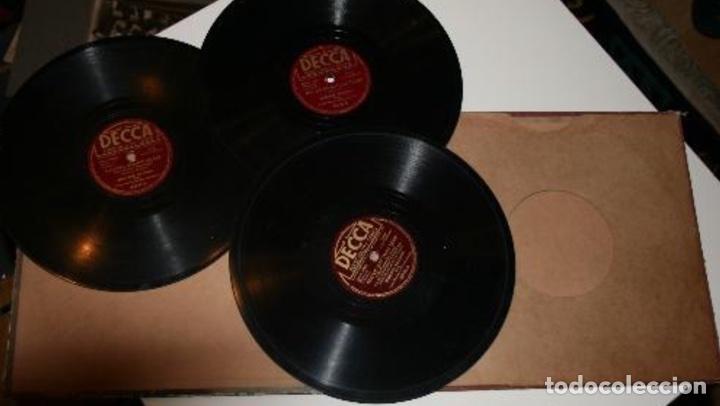 Discos de pizarra: Album de 3 discos de pizarra de 78 rpm gramófono de marlene dietrich - Foto 2 - 63415192