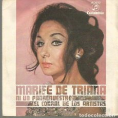 Discos de pizarra: MARIFE DE TRIANA SINGLE SELLO COLUMBIA AÑO 1969 EDITADO EN ESPAÑA PROMOCIONAL. Lote 63816171