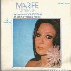 Discos de pizarra: MARIFE DE TRIANA SINGLE SELLO COLUMBIA AÑO 1975 EDITADO EN ESPAÑA PROMOCIONAL. Lote 63816287