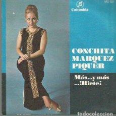 Discos de pizarra: CONCHITA MARQUEZ PIQUER SINGLE SELLO COLUMBIA AÑO 1969 EDITADO EN ESPAÑA . Lote 63816443