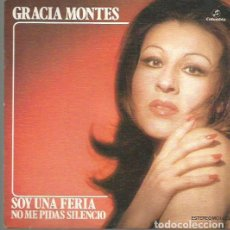 Discos de pizarra: GRACIA MONTES SINGLE SELLO COLUMBIA AÑO 1974 EDITADO EN ESPAÑA . Lote 63816631