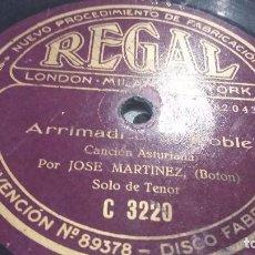 Discos de pizarra: DISCO DE PIZARRA CANCIÓN ASTURIANA (BOTON). Lote 64286907