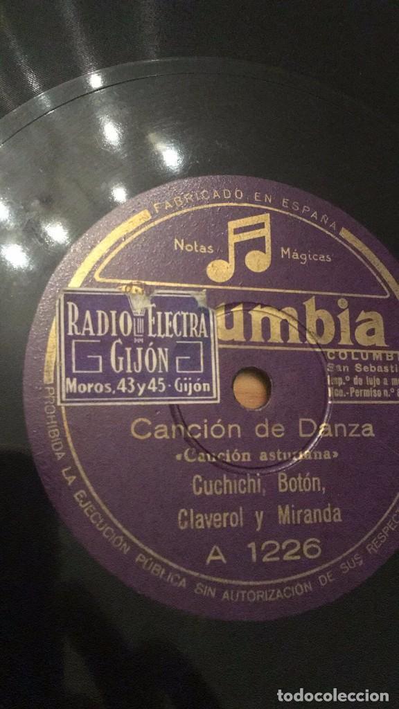 CANCIÓN ASTURIANA DISCO DE PIZARRA (Música - Discos - Pizarra - Flamenco, Canción española y Cuplé)
