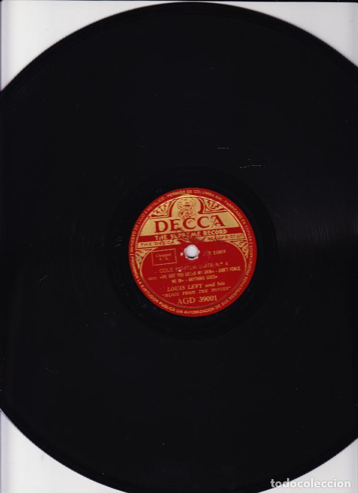 LOUIS LEVY AND HIS MUSIC FROM THE MOVIES - COLE PORTER SUITE Nº 3 Y 4 - (Música - Discos - Pizarra - Otros estilos)