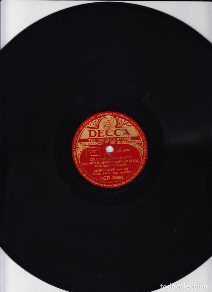 Discos de pizarra: LOUIS LEVY AND HIS MUSIC FROM THE MOVIES - COLE PORTER SUITE Nº 3 Y 4 - - Foto 2 - 64917223