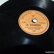 Discos de pizarra: DISCO DE PIZARRA CARMEN / LA VIVANDIERE, PEQUEÑO 15 CMS, ORQUESTA DE LA GARDE REPUBLICAINE, DIRECCIO. Lote 65835290