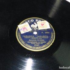 Dischi in gommalacca: DISCO DE PIZARRA DE BLANQUITA SUAREZ, LA NIÑA BIEN / TARARITA, TARARITA..., CANCIÓN ANDALUZA CON PAL. Lote 66207038