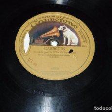Discos de pizarra - DISCO DE PIZARRA GRAMOFONO, NIÑA DE LOS PEINES, SEGUIDILLAS N.1 / GARROTIN, N. 653066-653024, TAL Y - 66210094