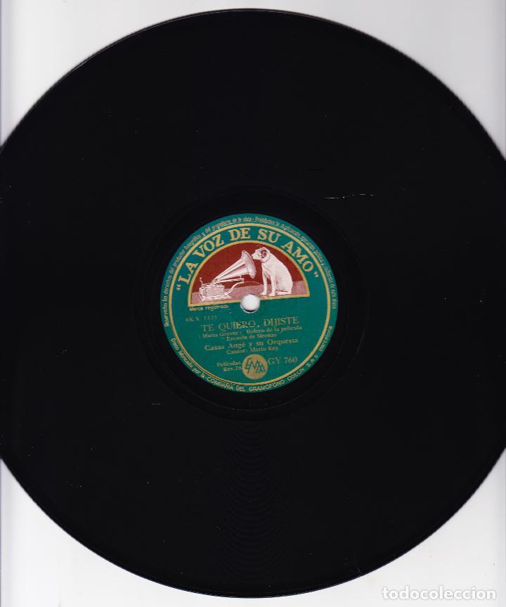 Discos de pizarra: CASAS AUGE ORQUESTA Y TRIO VOCAL HERMANAS RUSELL - ALMA LLANERA - TE QUIERO DIJISTE - Foto 2 - 67014026