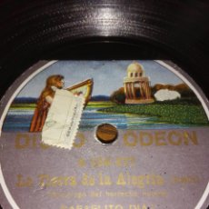 Discos de pizarra: DISCO DE PIZARRA.DISCO ODEÓN.POR LAS DOS CARAS.CON FUNDA DECORADA.. Lote 67170603