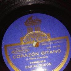 Discos de pizarra: DISCO DE PIZARRA.AUTOR J. MARTIN DOMINGO. CORAZÓN GITANO,LA CIRILA.POSADA BANDA ODEON.. Lote 67267991