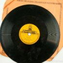 Discos de pizarra: SOLEÁ, FANDANGO, NIÑO MARCHENA. PEQUEÑO DISCO 15CM DIÁMETRO. 1920'S. FLAMENCO. Lote 67414801