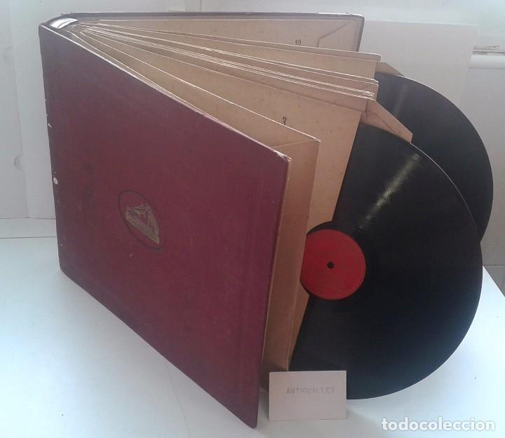 LOTE 12 DISCOS PIZARRA 78RPM + ALBUM.LA VOZ DE SU AMO.GRAMOFONO (Música - Discos - Pizarra - Clásica, Ópera, Zarzuela y Marchas)