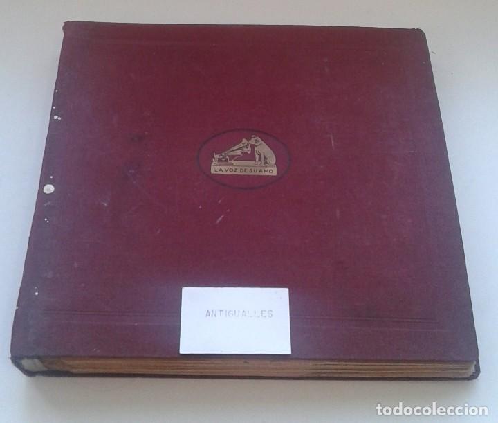 Discos de pizarra: LOTE 12 DISCOS PIZARRA 78RPM + ALBUM.LA VOZ DE SU AMO.GRAMOFONO - Foto 2 - 67670793