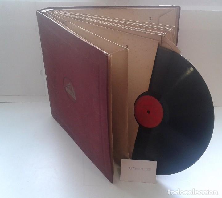 Discos de pizarra: LOTE 12 DISCOS PIZARRA 78RPM + ALBUM.LA VOZ DE SU AMO.GRAMOFONO - Foto 20 - 67670793