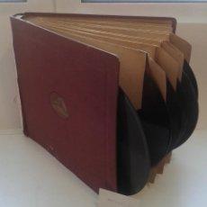 Discos de pizarra: LOTE 11 DISCOS PIZARRA 78RPM + ALBUM.LA VOZ DE SU AMO.GRAMOFONO. Lote 67671597