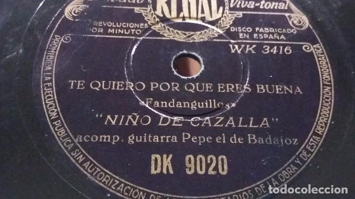 NIÑO DE LA CAZALLA DISCO DE PIZARRA (Música - Discos - Pizarra - Flamenco, Canción española y Cuplé)