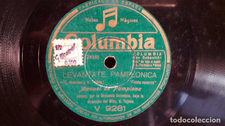 Discos de pizarra: PIZARRA !! 25 CM / MANUEL DE PAMPLONA / LEVÁNTATE PAMPLONICA - Foto 2 - 68231469