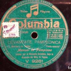 Discos de pizarra: PIZARRA !! 25 CM / MANUEL DE PAMPLONA / LEVÁNTATE PAMPLONICA. Lote 68231469
