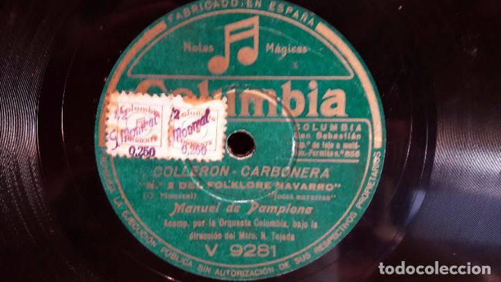 Discos de pizarra: PIZARRA !! 25 CM / MANUEL DE PAMPLONA / LEVÁNTATE PAMPLONICA - Foto 3 - 68231469