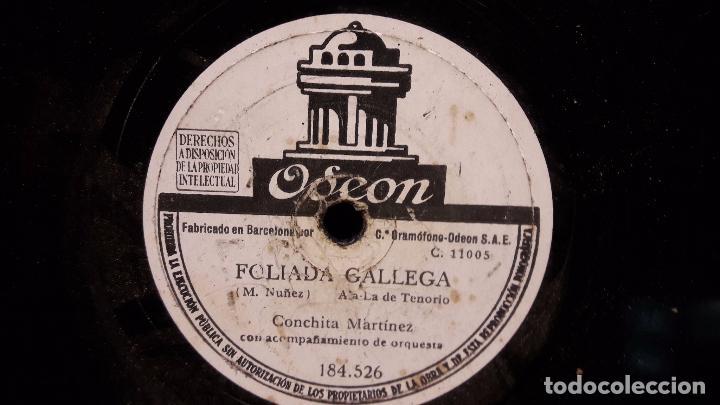 PIZARRA !! 25 CMS. CONCHITA MARTINEZ. FOLIADA GALLEGA / PASE EL PUERTO DE PAYARES / ALGO USADO. (Música - Discos - Pizarra - Flamenco, Canción española y Cuplé)
