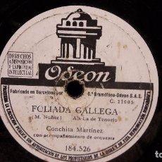 Discos de pizarra: PIZARRA !! 25 CMS. CONCHITA MARTINEZ. FOLIADA GALLEGA / PASE EL PUERTO DE PAYARES / ALGO USADO.. Lote 68253757
