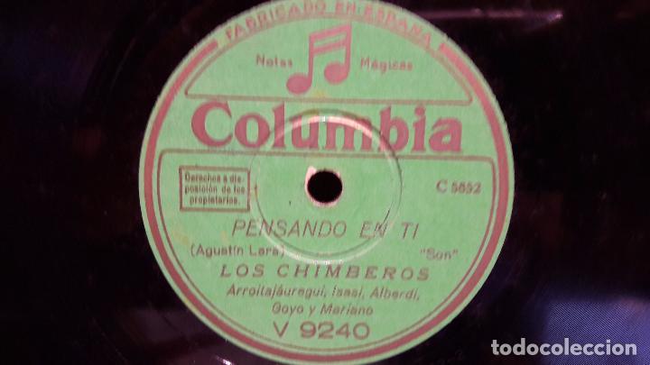 PIZARRA !! 25 CMS. LOS CHIMBEROS / PENSANDO EN TI / MULATA INES. BUENA CALIDAD. (Música - Discos - Pizarra - Solistas Melódicos y Bailables)
