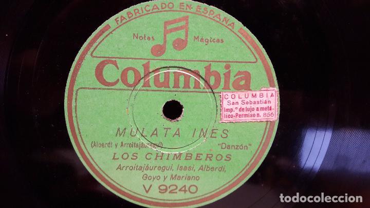 Discos de pizarra: PIZARRA !! 25 CMS. LOS CHIMBEROS / PENSANDO EN TI / MULATA INES. BUENA CALIDAD. - Foto 2 - 68260649