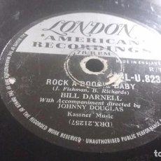 Discos de pizarra: DISCO DE PIZARRA ROCK BILL DARNELL. Lote 68409933