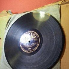 Discos de pizarra: BANDA REGIMIENTO INGENIEROS MADRID--PASODOBLE CORNETAS LOS VOLUNTARIOS--ESPAÑA CAÑI. Lote 68583361