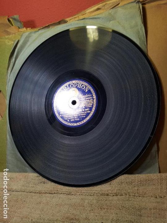 Discos de pizarra: FOX-RUMBA PELICULA POR UNOS OJOS NEGROS--EL RODEO Y MUCHACHA...ORQUESTA HARRY ROY - Foto 3 - 68585969