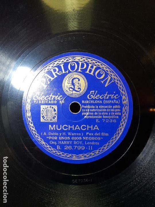 Discos de pizarra: FOX-RUMBA PELICULA POR UNOS OJOS NEGROS--EL RODEO Y MUCHACHA...ORQUESTA HARRY ROY - Foto 4 - 68585969