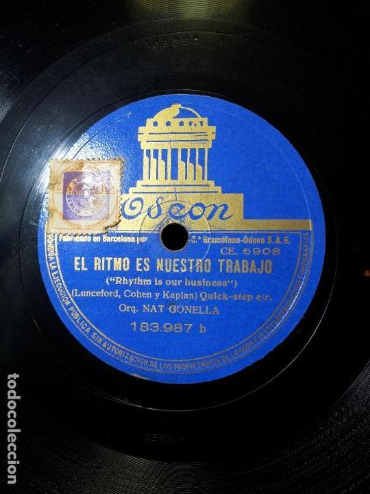 Discos de pizarra: ORQUESTA GONELLA--EL RITMO ES NUESTRO TRABAJO Y FOXTROT PELICULA CHICO MILLONARIO..UN POCO DE MUSICA - Foto 2 - 68592381