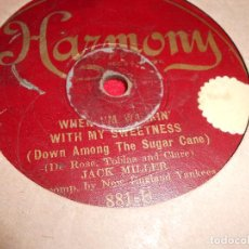 Disques en gomme-laque: JACK MILLER WHEN IM WALKIN WITH MY SWEETNESS+RUDY VALLEE LOVER COME BACK TO ME 10 PULGADAS USA HARM. Lote 68677529