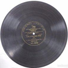 Discos de pizarra: ANTIGUO DISCO DE PIZARRA PARA GRAMOFONO SRTA MARINA GURINA-SOLEA-LA VERBENA DE LA PALOMA -MONOFACIAL. Lote 68758001