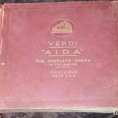 Discos de pizarra: 11 DISCOS DE PIZARRA PARA GRAMÓFONO: AÍDA, DE VERDI.. Lote 69360373