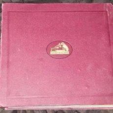 Discos de pizarra: 9 DISCOS DE PIZARRA PARA GRAMÓFONO: WALKYRIA, RIGOLETTO, IL BARBIERE DI SIVIGLIA, ZAMPA, FAUST, ETC. Lote 69366109