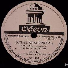 Discos de pizarra: PIZARRA !! JOSÉ OTO. JOTAS ARAGONESAS / JOTAS. CON RONDALLA. ODEON - 25 CM / BUENA CALIDAD.. Lote 69641629