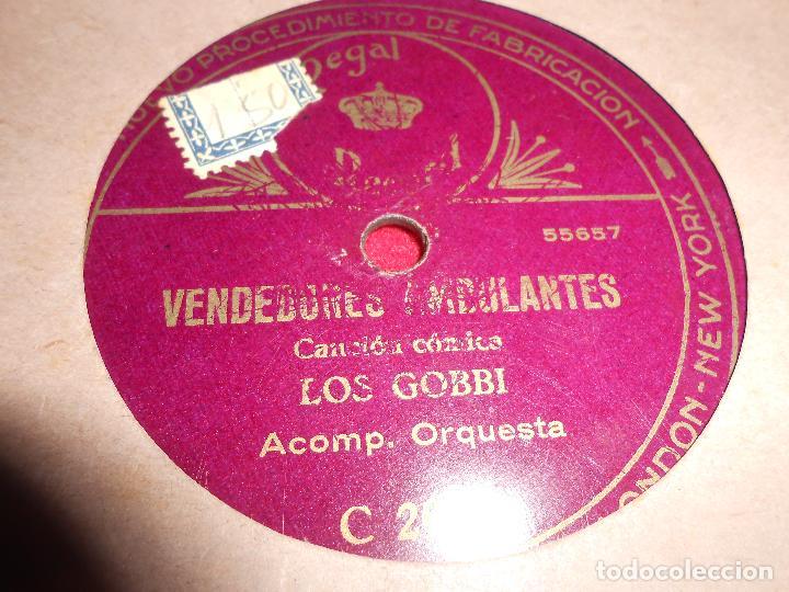 LOS GOBBI VENDEDORES AMBULANTES/COPLAS DE LOS NOVIOS 25 CTMS 10 PULGADAS ESPAÑA REGAL C2089 (Música - Discos - Pizarra - Solistas Melódicos y Bailables)