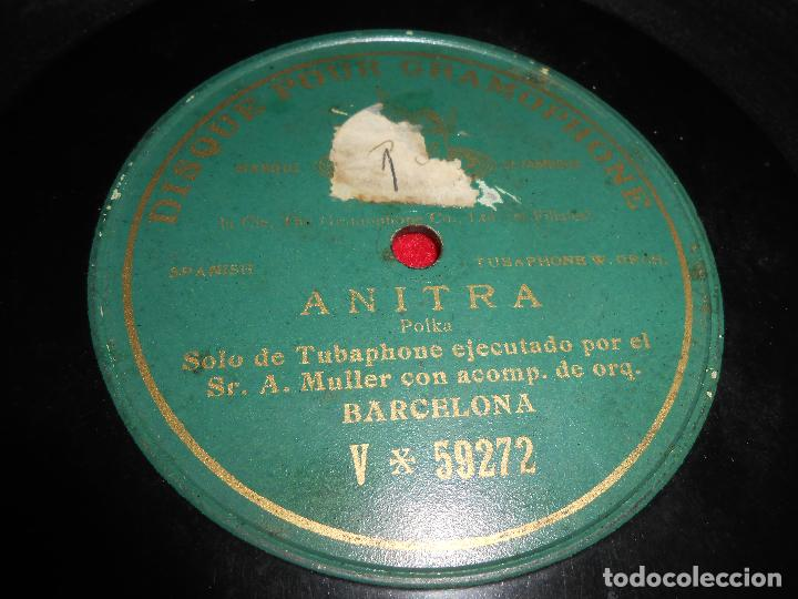 SR.A.MULLER TUBAPHONE &ORQUESTA BARCELONA ANITRA 10 PULGADAS 25 CTMS V-59272 (Música - Discos - Pizarra - Otros estilos)