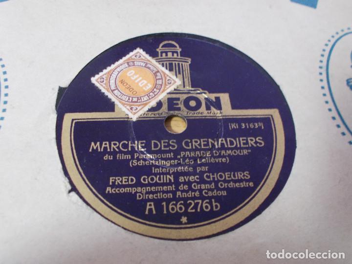 Discos de pizarra: FRED GOUIN. PARIS JE T´AIME D´AMOUR.MARCHE DES GRENADIERS, - Foto 2 - 69685389
