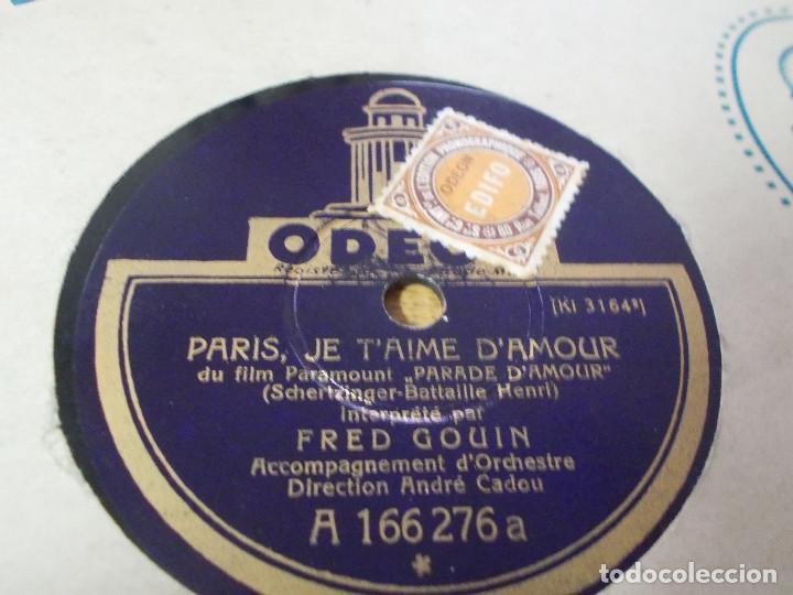 Discos de pizarra: FRED GOUIN. PARIS JE T´AIME D´AMOUR.MARCHE DES GRENADIERS, - Foto 3 - 69685389