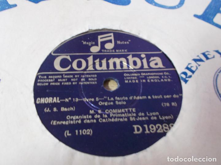 Discos de pizarra: M. E. COMMETTE. CHORAL. SCHERZO DE LA 11 EME SYMPHONIE. - Foto 2 - 69685513