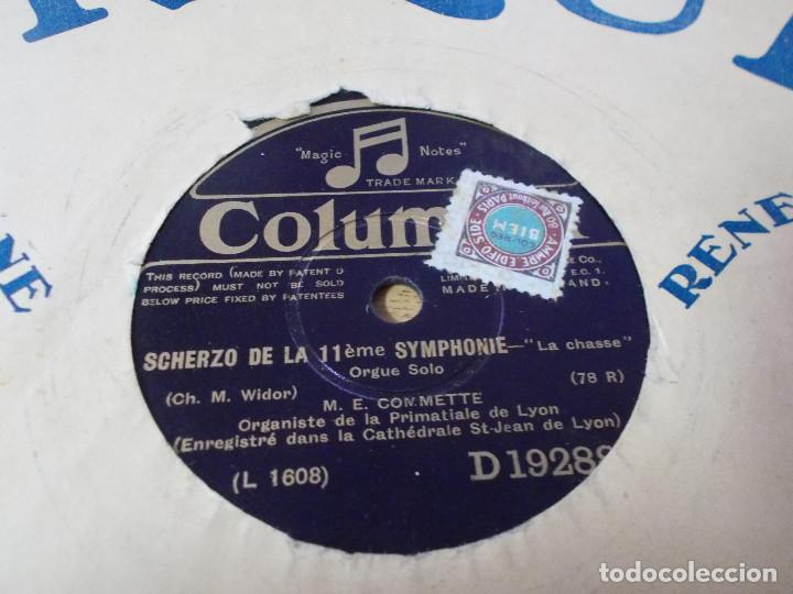 Discos de pizarra: M. E. COMMETTE. CHORAL. SCHERZO DE LA 11 EME SYMPHONIE. - Foto 3 - 69685513
