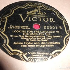 Disques en gomme-laque: TED FIORITO TOMORROW IS ANOTHER DAY+JACKIE TAYLOR LOOKING FOR THE LOVELIGHT IN THE DARK 25 CTMS. Lote 69702049