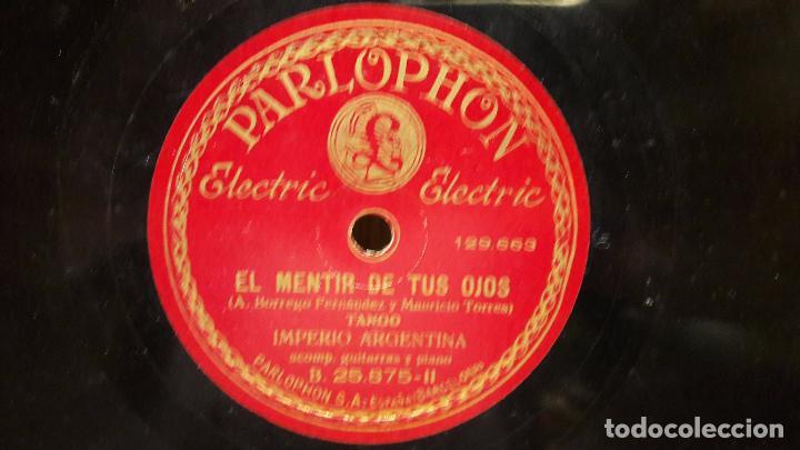 Discos de pizarra: PIZARRA !! IMPERIO ARGENTINA. SILENCIO / EL MENTIR DE TUS OJOS / PARLOPHON - 25 CM. - Foto 2 - 69727517