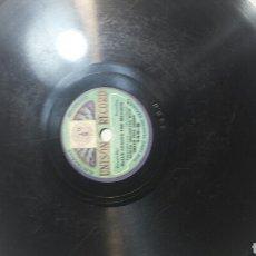 Discos de pizarra: ANTIGUO DISCO DE PIZARRA PARA GRAMOLA DE UNISON RÉCORD TAMAÑO RARO. Lote 69792710