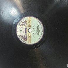Discos de pizarra: ANTIGUO DISCO DE PIZARRA PARA GRAMOLA DE UNISON RÉCORD TAMAÑO RARO . Lote 69792943