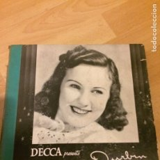 Discos de pizarra: ÁLBUM DEANNA DURBIN DIANA.DECCA.3 DISCOS DE GRAMÓFONO 78 RPM.LA TRAVIATA LA BOHEME..... Lote 69799051