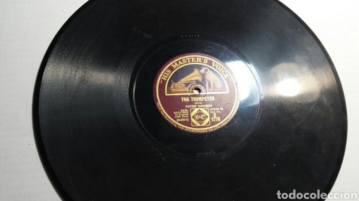 ANTIGUO DISCO DE PIZARRA PARA GRAMOLA PETER DAWSON (Música - Discos - Pizarra - Solistas Melódicos y Bailables)